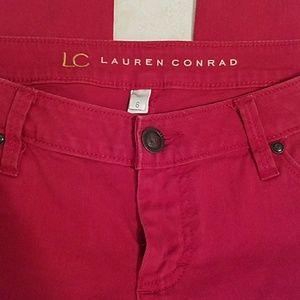 LC Lauren Conrad Jeans - LC Lauren Conrad Red Pencil Skinny jeans